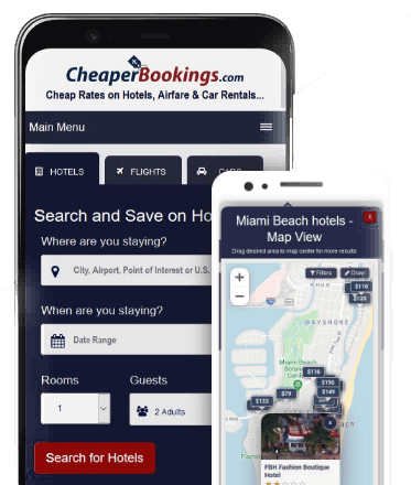 Cheaper Bookings App - Mobile devices